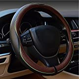 Best Steering Wheel Covers - Car Leather Steering Wheel Covers Universal 15 inch Review