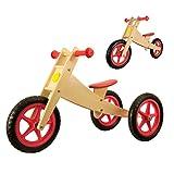 Vinz Kinderlaufrad | Laufrad Lernlaufrad Lauflernrad | ab 1 Jahre (18 Monaten) | Kinder Fahrrad Dreirad Kinderdreirad (Rot)