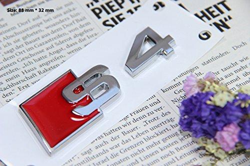 E384 S4 Emblem Zeichen Badge auto Abziehbild aufkleber 3D Schriftzug Plakette Car Sticker