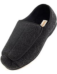 Zapatos ortopédicos para hombre con amplitud EEE, ajustables con velcro