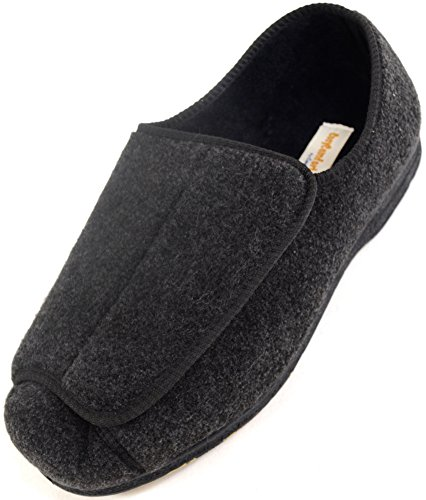Mens Orthopaedic / EEE Wide Fit Adjustable Velcro Slipper Boot / Slippers...