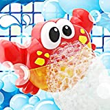 Addmos Bath Toys, Baby Bath Bubble Toys, Auto Crab Kids Bath Bubble Machine with 12 Musics Baby Fun Shower Toys