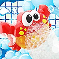 Addmos Juguetes de baño - Maquina de Burbujas 12 Música y Burbuja Automática, para Ducha de Niños Baño de Burbujas
