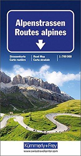 Carte routière et touristique : Routes Alpines