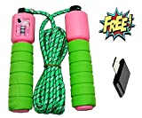 #8: PRASHA Skipping Rope with Counter Anti Slip Rubber Grip & Adjustable Length Skip Jump Number Count Upto 999 || Color May Vary ||