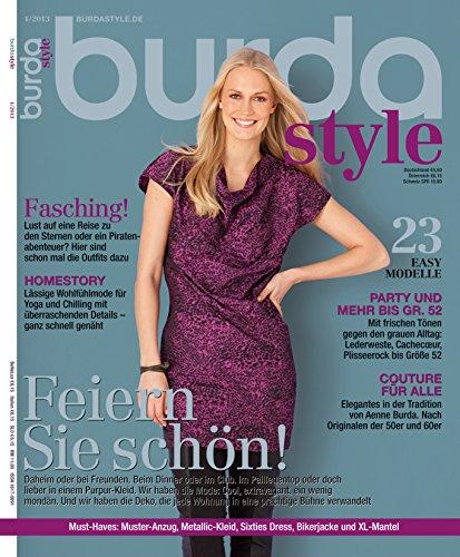 Burda style 2013 #01 Januar-Ausgabe (Vintage-mode-magazin)