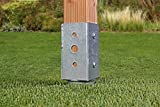 GAH-Alberts 208370 Einschraub-Bodenhülse für Vierkantholzpfosten - feuerverzinkt, 71 x 71 mm Test