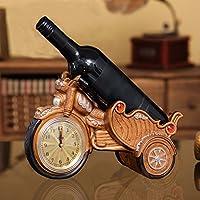 Bastidores De Vino De La Motocicleta Con Reloj Creative Living Room Crafts Muebles Para El Hogar Gifts,Color3