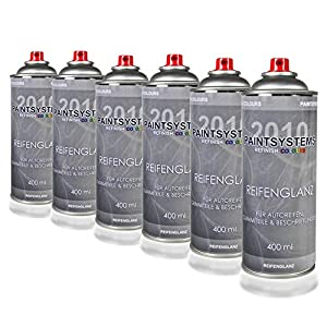PAINTSYSTEMS REFINISH COLOURS 6 x 400ml Reifenglanz Gummi Wet Look