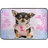 Alfombrilla de baño, Funny Cute Perro impresión Antideslizante Anti Molde fácil seco Felpudo Alfombra para