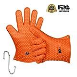 kkwell Guantes Silicona de alta calidad gloves-heat resistente al Asar bbq-new Protectora oven- de...