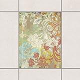 Apalis Fliesen Aufkleber–Blumen von Zeit 20cm x 15cm, Set Größe: 10Stück