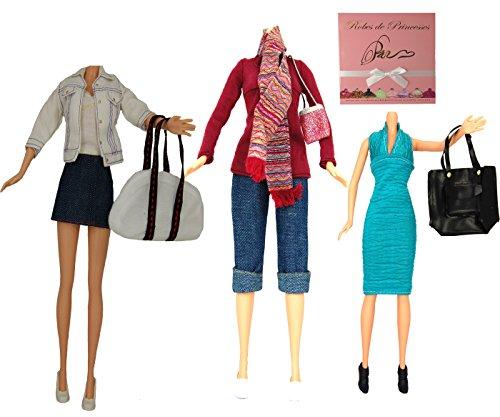 """Lotto di Vestiti """"PENNY"""" per bambole Barbie, Disney ed altri personaggi - """"serie limitata"""""""