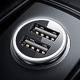 DIVI Zigarettenanzünder USB Ladegerät, Metall Mini Auto Ladegerät [Monitor Spannung] KFZ Ladeadapter 4.8A/24W...