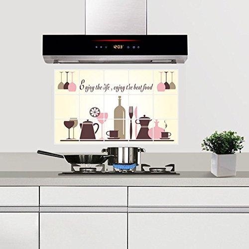 Decalmile prova di olio autoadesivo mattonelle della for Adesivi mattonelle cucina