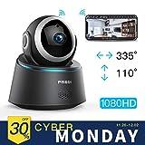 Caméra Sécurité Wifi 1080P FREDI IP, Caméra de Surveillance Sans Fil, Détecteur de Mouvement Infrarouge à Vision Nocturne, Pan Tilt P2P Wps Ir-Cut Babyphone Bidirectionnel