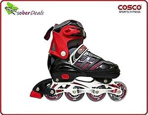 Original Cosco Roller Skates Sprint Imported InLine Skates (Sizes - 'S' 31-34 & 'M' 35-38 Euro) for boys & girls at best price @ fair online shopping.