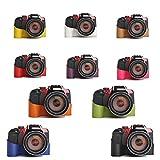 10 Farbe! Echte Handgemachte Hartledertasche Kamera Leder Hälfte Case Tasche Hülle für Nikon P600 (Bitte hinterlassen Sie eine Nachricht, welche Farbe Sie bevorzugen)