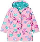 Hatley Girl's Printed Raincoat, Pink (Silly Kitties), 2 Years
