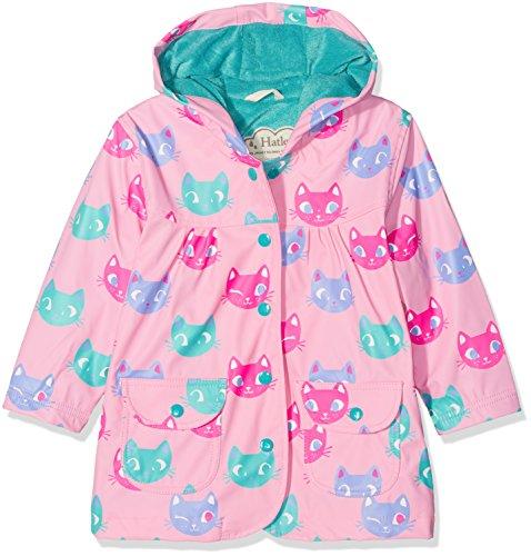 Hatley Girl's Printed Raincoat, Pink (Silly Kitties), 8 Years
