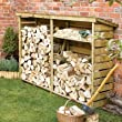 Large Wooden Log Store for Firewood Log Storage