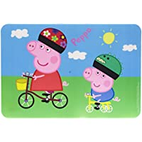 NOVASTYL 8012566 PEPPA PIG Set de Table Plastique/Polypropylène Bleu 43 5 x 29 5 x 0 08 cm