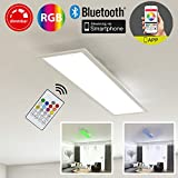 Briloner Leuchten 3033 – 016 – Plafón De Panel, empotrable LED, 18 W, regulable, control de temperatura de color, control de aplicaciones, Bluetooth, rectangular 59.5 cm, plástico, 18 W, color blanco