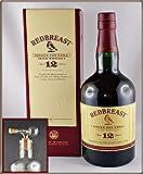 Redbreast 12 Jahre irischer Whiskey & 1 Flaschenportionierer aus Echtglas mit Naturkorkaufsatz, kostenloser Versand