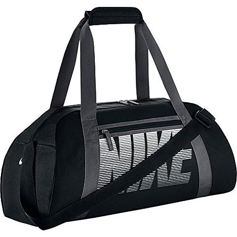 Nike Club Sac de Sport Femme, Noir/Gris Foncé/Blanc, Taille