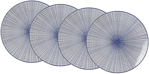 Ritzenhoff & Breker 203455 Vaisselle Porcelaine, Bleu/Blanc, 21,5 x 21,5 x 2,5 cm