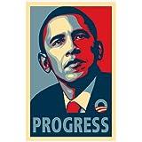 Shepard Fairey – RARE Obama Campaign Poster - PROGRESS Movie Poster (27,94 x 43,18 cm)