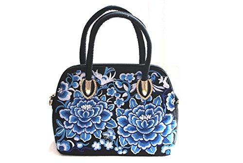 Retro Borsa Bag Guscio Ms. Nazionale Vento Ricamati A Mano Messenger Bag Purple