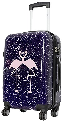 1 Koffer Hartschale Größe S Design Flamingo Material Polycarbonat Trendyshop365