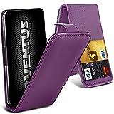 Aventus (Purple) ZTE Grand S3 Premium-PU-Leder Universal Hülle Spring Clamp-Mappen-Kasten mit Kamera Slide und Karten-Slot-Halter