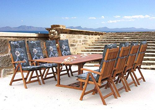 Garten Möbelgruppe Cuba 17tlg Premium Enjoy mit ausziehbaren Tisch