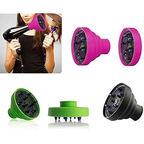 MWS Difusor universal para secador de pelo, de silicona plegable, de viaje