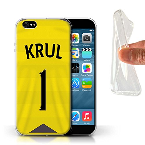 Offiziell Newcastle United FC Hülle / Gel TPU Case für Apple iPhone 6 / Pack 29pcs Muster / NUFC Trikot Home 15/16 Kollektion Krul