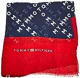 Tommy Hilfiger Damen Trilby Bold Corporate Scarf, Blau 901, One Size (Herstellergröße: OS)