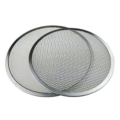 Fenteer 16 '' Bandeja para Horno De Aluminio con Borde De Pizza, Malla Sin Costura, Horno,...