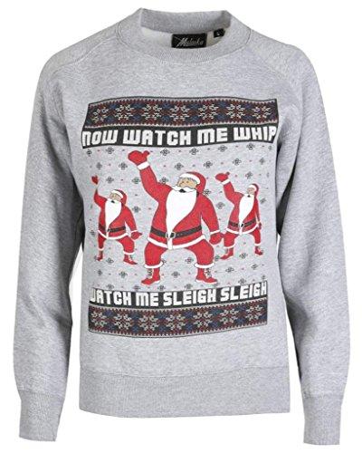 Home ware outlet - Sweat-shirt - Manches Longues - Femme noir * taille unique Santa dance Grey
