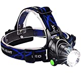 BSITFOW Rechargeable Head Torch   Hands Free Head Flashlight LED Lmap Water Resistant