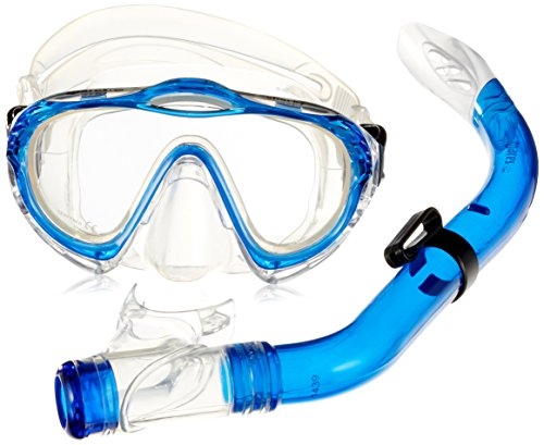 Mares Kinder Maske plus Schnorchel Set Sharky Tauchmaske, Blue/Clear, One size