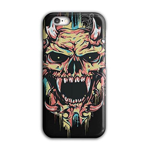 Wellcoda Satan Teufel Unheimlich Schädel Hülle für iPhone 6 / 6S Dämon Rutschfeste Hülle - Slim Fit, komfortabler Griff, Schutzhülle