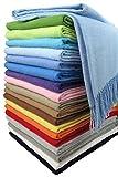 STTS International Baumwolldecke Wohndecke Kuscheldecke Tagesdecke 100% Baumwolle 130 x 170 cm sehr weiches Plaid Rio Alle Farben (Hellblau)