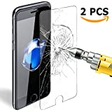 Verre Trempe iPhone 7 Plus , Ubegood iPhone 7 Plus Protection d'écran en Verre Trempé Ultra Clair Dureté 9H Écran de Screen Protection pour iPhone 7 Plus - 2 pack