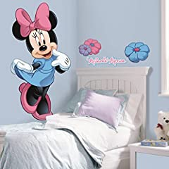Idea Regalo - RoomMates - Adesivo gigante da parete Minnie, Disney Mickeys Clubhouse