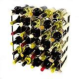 Cranville wine racks Classic 30Bottiglia Legno di Pino e Metallo zincato Vino Rack autoassemblaggio
