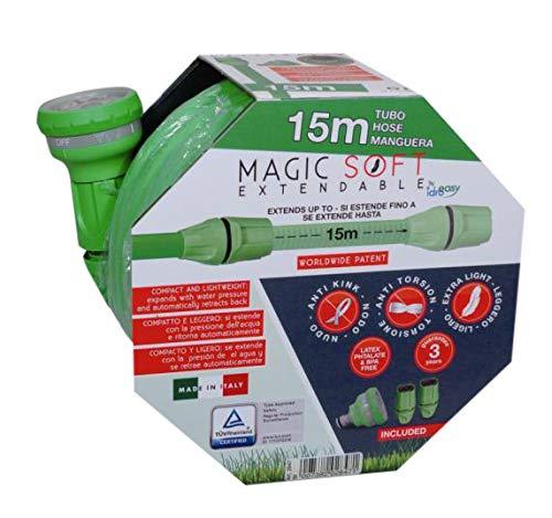 Idroeasy Magic Soft, Il Tubo Estensibile da Giardino Che Si estende Fino a 2,5 Volte la Sua Lunghezza Iniziale Made in Italy (15)