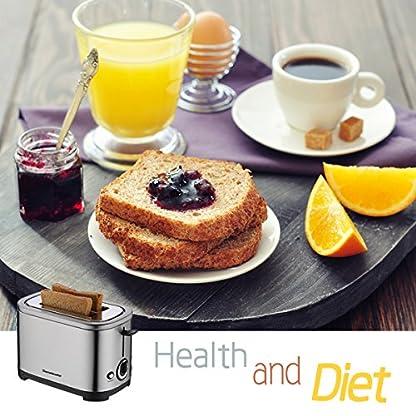 Homeleader-Toaster-2-Scheiben-7-Brunungsstufen-gebrsteter-Edelstahl-700W