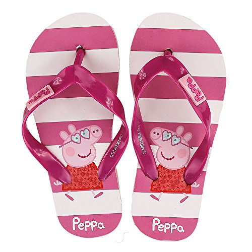 Peppa Wutz Kinder Flip Flops Zehentrenner Badelatschen,pink,29-30